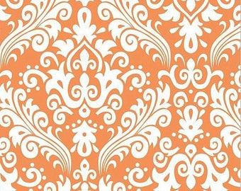 RILEY BLAKE Large Damask  ORANGE 100% cotton fabric by the Yard - C850-60