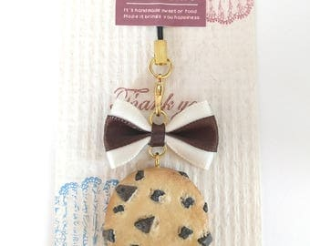 Chocolate Chip Cookie Key Strap