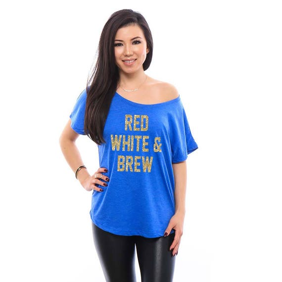 RED WHITE & BREW Shirt. 4th of July Shirt. 4th of July Shirt for Women. Independence Dat Shirt. 4th of July Outfit. Funny Shirts for Women.