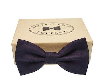 Handmade Bow Tie in Navy - Adult & Junior sizes available
