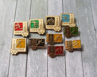 Olympic Pins, Moscow 80, Soviet Olympic Pin, 22 Olympic Games, Sports Collectible, Olympic Collectible, Gift for Sportsmen