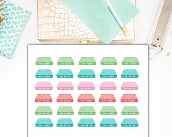 40% OFF SALE Change Air Filter Stickers, Replace Air Filter Planner Stickers – Will fit any planner– 1846