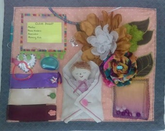 Fidget Blanket Busy Mat Loved by Seniors and Adults with Alzheimer's or Dementia or Special Needs