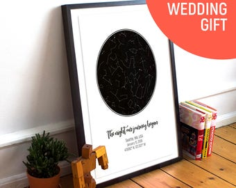 Custom Star Map, Personalised Star Map, Custom Star Chart, Custom Star Print, Husband Gift, Wedding Gift, Anniversary Gift, Personalized Map