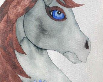Whimsical art, original art, unicorn art, whimsical animal art, watercolor painting, nursery art, unicorn gift, kids room art, unicorn