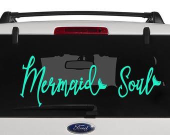 Mermaid Scale Heart Decal Mermaid Decal Yeti Cup Decal - Mermaid custom vinyl decals for car