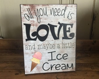 Bridal Shower Sign, Bridal Brunch Sign, All You Need Is Love And Maybe A