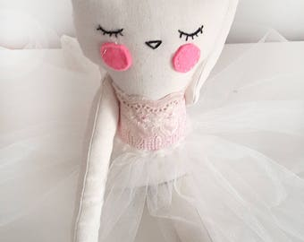 Cat princess ballerina doll, baby shower birthday gift for kids and baby girls, kitty cat plush 20'' stuffed animal toy