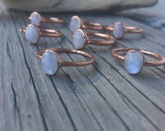 Moonstone Ring | June Birthstone | Engagement Ring | Crystal Ring | Electroformed Ring | Stone Ring | White Ring