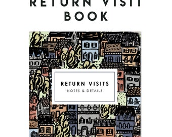 Return Visit Book - House to House - 4x6 Wire Bound Notebook, JW Gift, Pioneer Gift, Jehovah's Witnesses, Pioneer School Gift