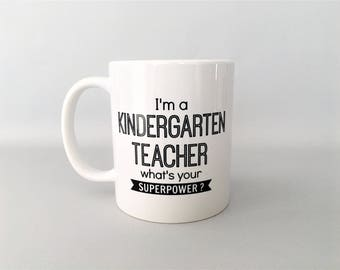 Teacher Mug, Teacher Coffee Mug, Kindergarten Teacher Mug, Teacher Gift, Kindergarten Teacher Gift, Teacher Gifts, Teacher Birthday Gift