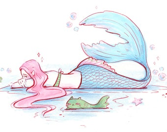 Mermay Original Art -- Ten