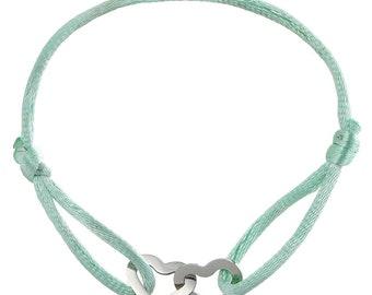 Double heart bracelet cord
