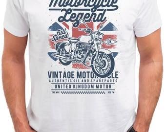 Motorcycle Legend.  Garage Motorcycle Bike Chopper  rod mens t shirt tees