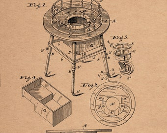 Baby Walker Patent #631889 dated August 29, 1899.