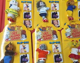 Vintage Get Along Gang Clip On Dolls Complete set 6 pcs MOC