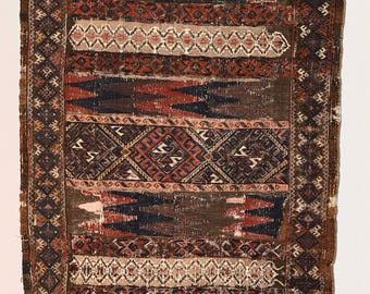 Antique Baluch Soumak Kilim Runner Rug. Best Price Guarantee- Bright natural color- Handknotted Pure Wool