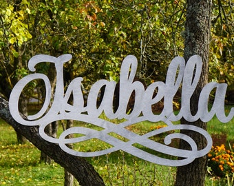 Large Wooden Name Laser Cut Wood Words Custom Nursery Decor Gallery Wall Words Personalized Name Wall Decor Custom Word Party Decor babyname