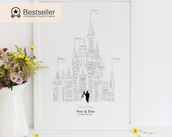 Personalised Disney Wedding Gift Fairytale 1st Anniversary Valentines Day Bride