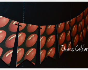 Football Flags Banner, Football Birthday Decorations, Football Party Supplies by Owens Celebrations