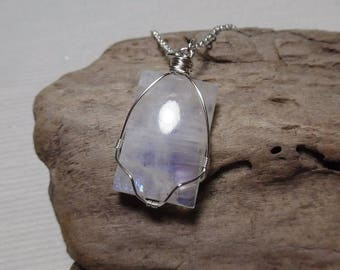 Moonstone Necklace, Silver Moonstone Necklace, Moonstone Jewelry, Gift for her, Womens Jewelry, June Birthstone, Moonstone Pendant