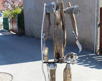 """Lampe industrielle """"A sciez et bois"""" By Recyclhome."""