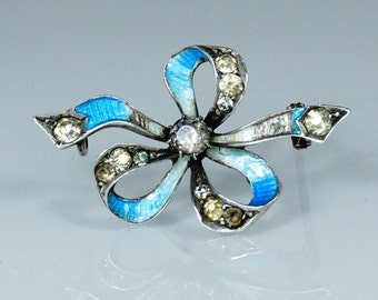 Antique French Belle Epoque Silver Brooch