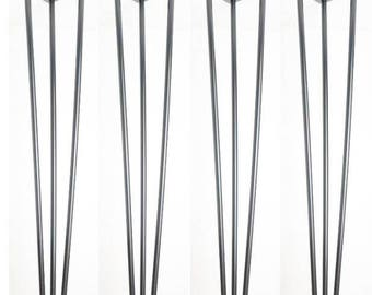 Hairpin legs,Set of 4 - 71 cm Bare steel Hairpin table desk legs 12mm 3-rod
