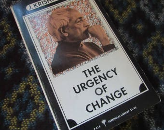 70s Vintage Philosophy book The Urgency of Change
