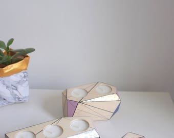 Annie Sloan x Etsy Collaboration - special edition of metallic candle holders painted in chalk paint, beautiful new coloures with metal leaf