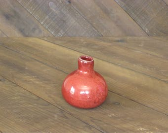 READY TO SHIP - Bud Vase - Copper Red Glaze - Vase - Ceramic Vase - Wheel Thrown - Reduction Fired - Go Play Clay - Allison Zimmer Guiliotis