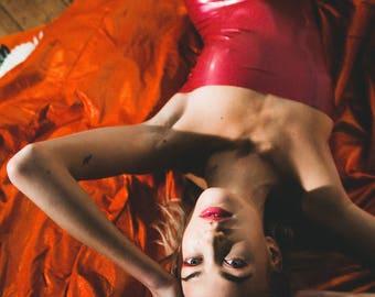 Metallic Pink Latex Dress