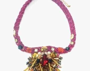 Anastasia - Pink Statement Necklace