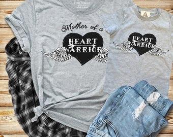 Mother of a Heart Warrior Tee, CHD Heart Defect Mother Shirt, Heart Warrior Tee, Heart with Wings Tee, Heart Mama, Heart Warrior Kids Shirt