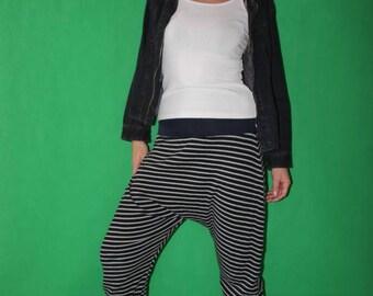 striped Bloomers  Harem Pants Sarouel pants striped pants
