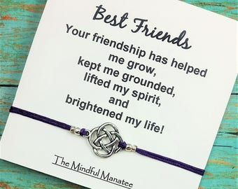 Best Friend Bracelet | Friendship Bracelet | Gift for Best Friend | Celtic Bracelet | BFF Gift | Gift for Birthday, Graduation