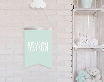 Personalized Name Banner Flags -  Pennant Flag - Nursery Wall Decor