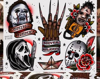 Horror Movie Tattoo Flash Stranger Things...