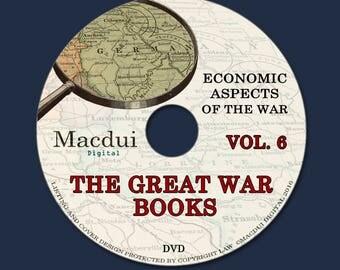 The Great War books Volume 6 WW1 Economic Aspects of the War 133 PDF E-books on 1 DVD