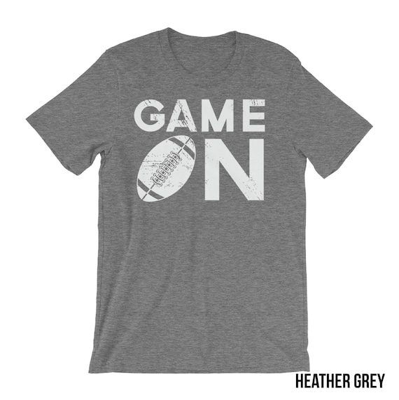 Football Shirt Game on Heather Short Sleeve | Basketball, Baseball, Volleyball, Soccer Mom | Game Day Shirt | Team Pride
