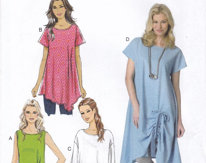 FREE US SHIP Butterick 6170 Drawstring Hem Tunic Top Size 16 18 20 22 24 26 Bust 38 40 42 44 46 48 plus size Factory Folded Loose Fitting
