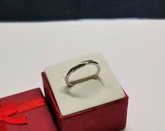 16.9 mm ring silver gold plated vintage SR949 835