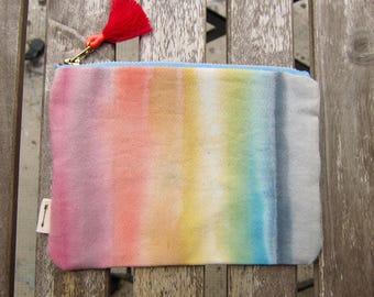 Pretty little handmade zipped pouch