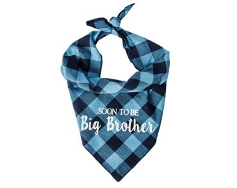 Dog Bandana Birth Baby Announcement, Soon to be Big Brother, Baby Announcement, Big Brother Bandana, New Brother Dog Bandana, Baby Shower