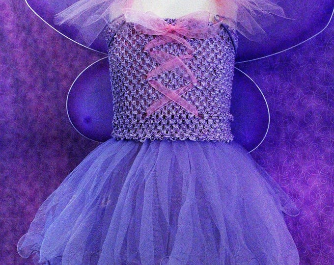 Halloween Costume,Girls Butterfly costume,Girl Fairy Princess costume, Lavender Butterfly wings,Lavender tutu dress,Lavender Fairy dress
