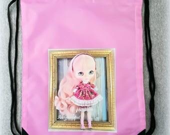 backpack blythe, eco bag, blythe carrier, blythe case, portable doll bag, blythe doll carrier, reusable bag, shopping bag,reusable lunch bag