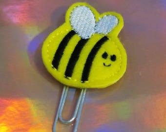 Bee Felt Planner Clip