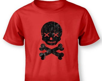 Skull and Bones Black baby t-shirt