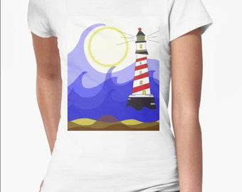 Woman T Shirt Lighthouse