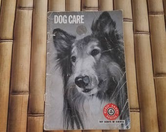 Boy Scouts Of America Merit Badge Series Dog Care Booklet 1972 Vintage USA Learn About Dogs Boys Club Dog Breeds Childrens Book BSOA